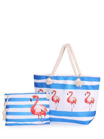 Image of 2 Pieces Striped Printed Shoulder Bag Set