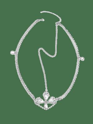 Cadena de la cabeza del Rhinestone de la Faux Gem de la frente