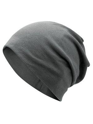 Plain Fall Knitted Pinstriped Beanie Hat