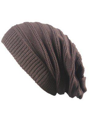 Striped Ribbing de punto de apilamiento Beanie Hat