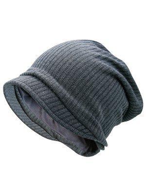 Sombrero rayado hecho punto de la gorrita tejida caliente