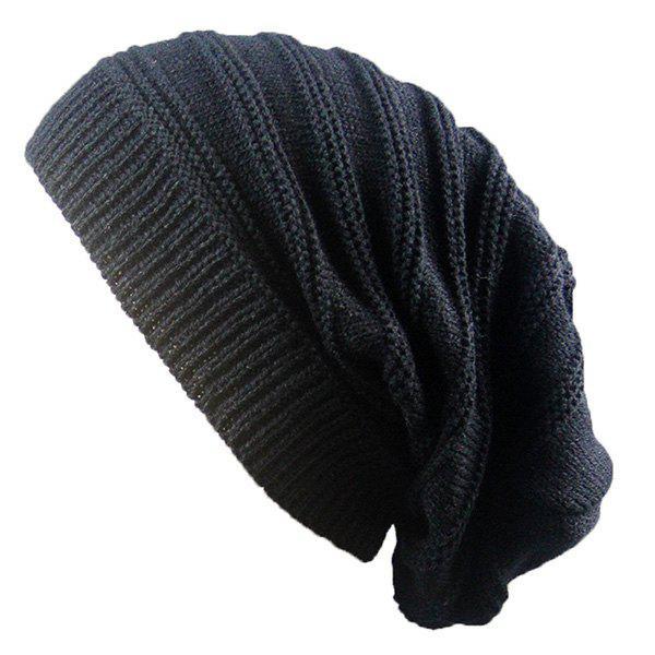 Striped Ribbing Knitting Stacking Beanie Hat 221766501