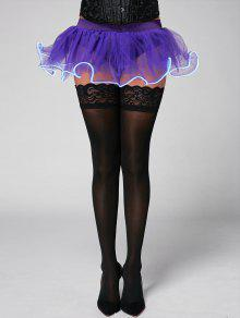 Mesh Ballet Light Up Cosplay Party Skirt - Purple