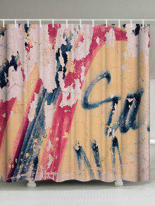 ريترو كتابات جدار ماء كيراتين دش - W71 بوصة * L79 بوصة