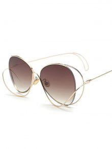 Ombre Metallic Curve Surround Sunglasses