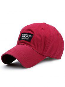 Letters Patchwork Sunscreen Baseball Cap - Bright Red