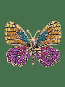 بروش سباركلي حجر الراين شكل الفراشة - أرجواني
