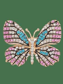 بروش سباركلي حجر الراين شكل الفراشة - زهري