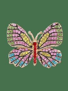 بروش سباركلي حجر الراين شكل الفراشة - الأصفر