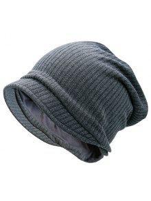 محبوك قبعة دافئة قبعة دافئة - رمادي