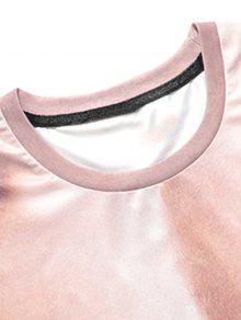 243; Del Del Divertida La Camiseta 3D Xl Amarillento Equipo Cuello Muscle Imprimi Rosa RqwaUa