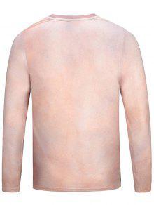 Equipo Cuello Xl Del Camiseta La Del 3D Amarillento Imprimi Muscle Rosa 243; Divertida Iw70znZq