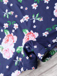 Floral 4xl De Talla Traje Grande Halter De Azul o Una Pieza Ba ttYSqwP