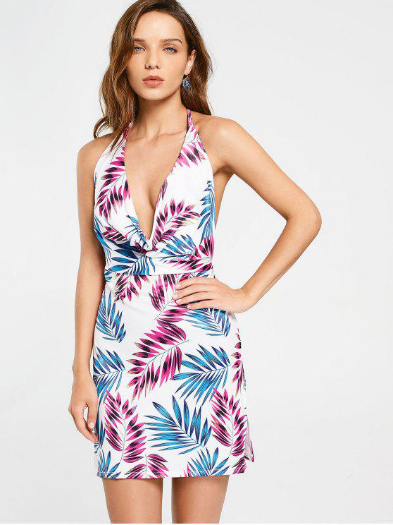 1a873649260 22% OFF  2019 Backless Tropical Mini Dress In MULTICOLOR