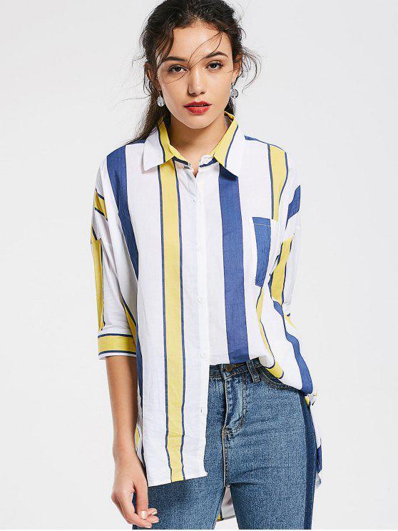 Rayas de gran tamaño camisa baja - Raya Un tamaño(Montar tam