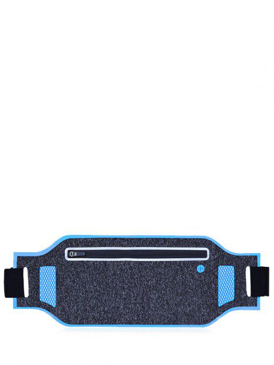 ladies Light Weight Color Block Breathable Waist Bag - BLUE