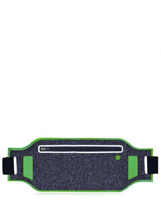 women's Light Weight Color Block Breathable Waist Bag - GREEN