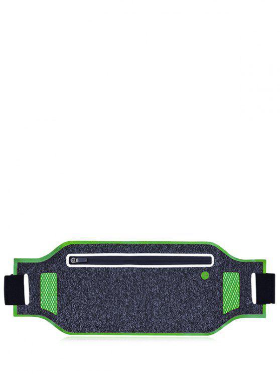 Leichtgewicht Atmungsaktive Taille Tasche mit Farbblock - Grün