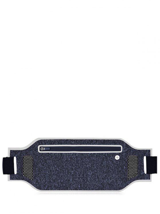 Bolsa de la cintura transpirable del bloque de color de peso ligero - Plata