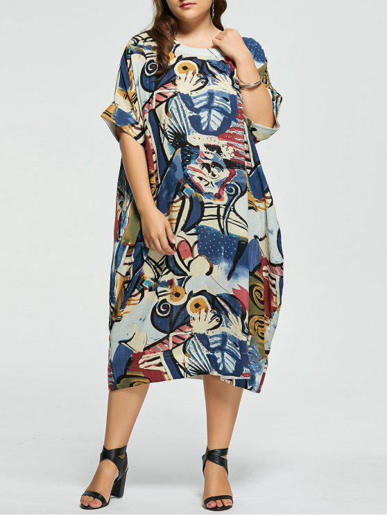 16ecba3ab5 25% OFF  2019 Plus Size Funny Printed Linen Dress With Pockets In ...