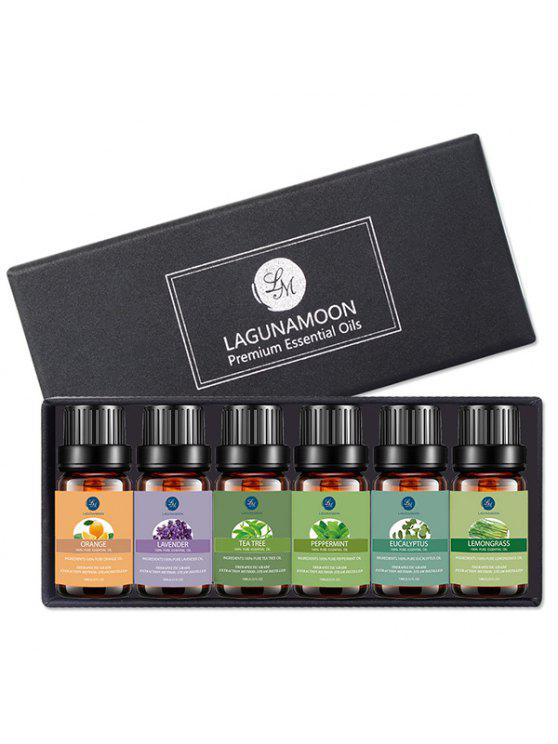 6Pcs Premium Therapeutic Aromatherapy Essential Oil Set - Black