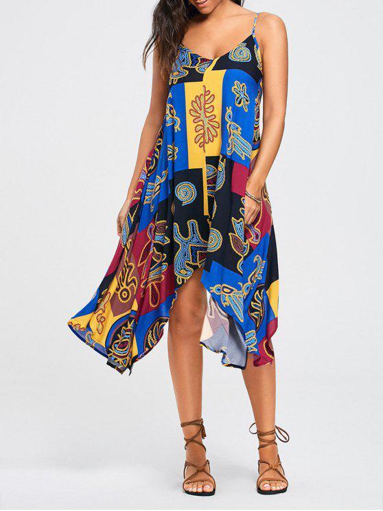 فستان مثير طباعة - مزيج ملون 2XL