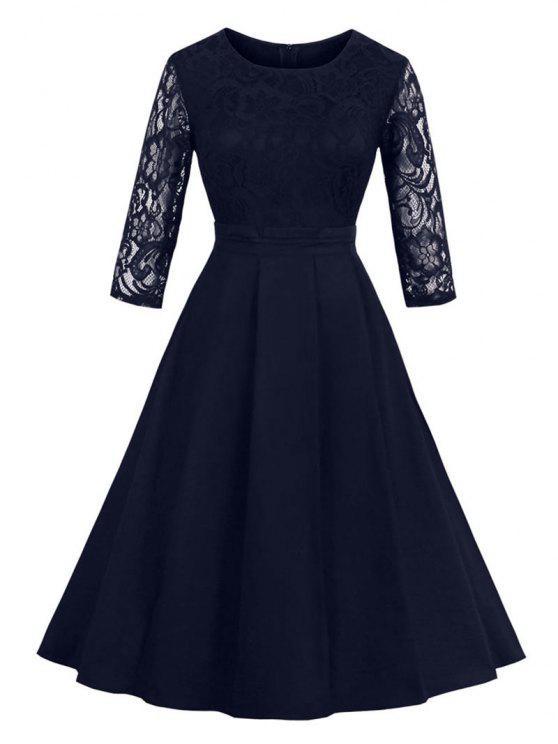 فستان ملائم وتوهج كلاسيكي - الأرجواني الأزرق L