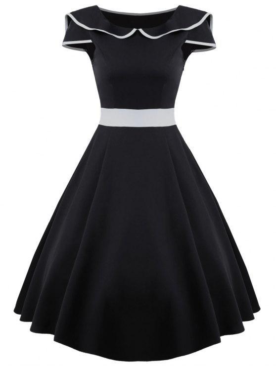 فستان توهج ميدي - أسود M