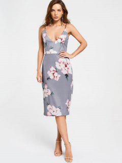 Backless Floral Shesth Dress - Floral S