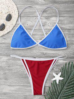 Ensemble De Bikini à Cordes Croisées - Bleu S