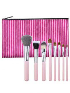 8Pcs Portable Multipurpose Makeup Brushes Set With Bag - Tutti Frutti