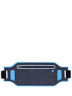 Light Weight Color Block Breathable Waist Bag - Blue