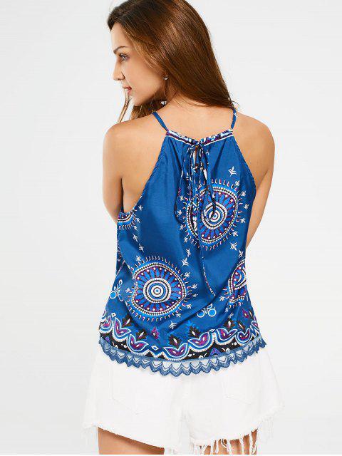 outfits Lace Trim Crochet Panel Tank Top - COLORMIX XL Mobile