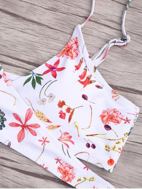 buy Floral Wrap Padded Bikini Set - COLORMIX S Mobile