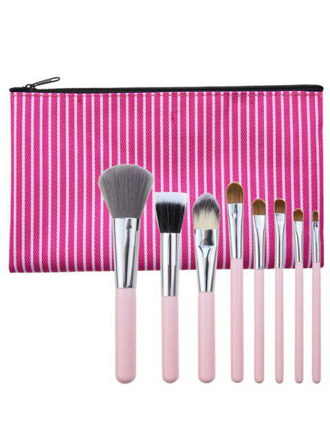 latest 8Pcs Portable Multipurpose Makeup Brushes Set with Bag - TUTTI FRUTTI  Mobile