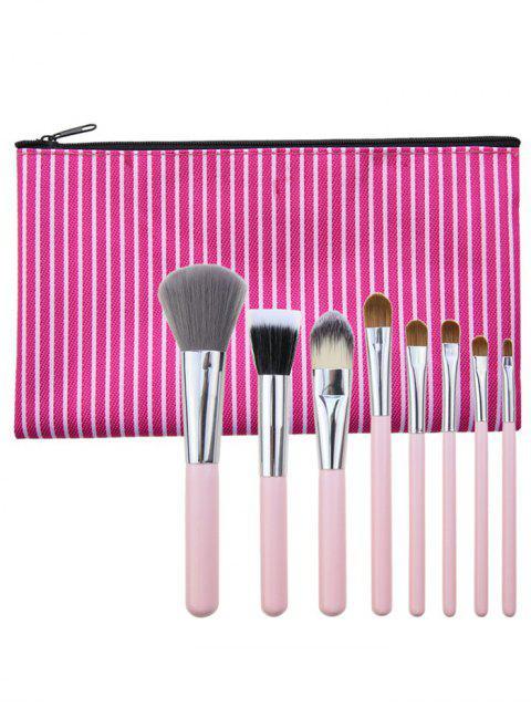 Cepillos multiusos portables del maquillaje 8Pcs fijados con el bolso - Cientos de Fructosa  Mobile