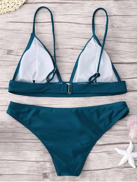 women's Padding Bikini Set - PEACOCK BLUE M Mobile