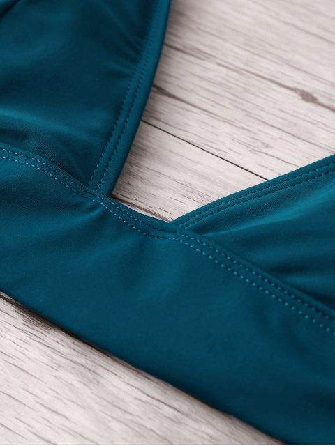ladies Padding Bikini Set - PEACOCK BLUE S Mobile