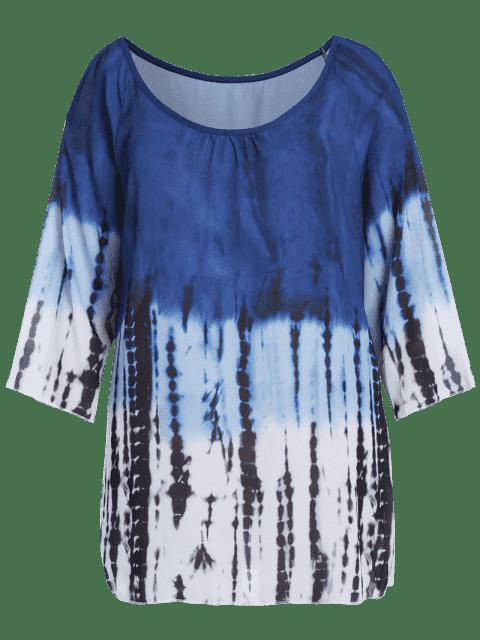Robe à tunique à épaule fantaisie - Multicolore 2XL Mobile