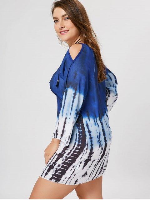 Robe à tunique à épaule fantaisie - Multicolore 3XL Mobile