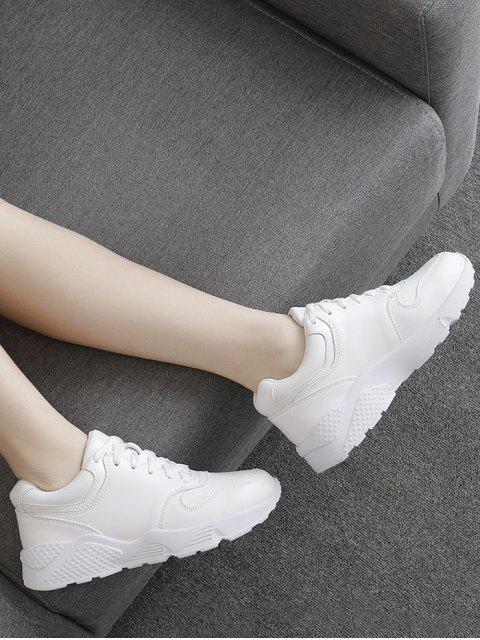 Zapatillas de deporte de cuero falsas del funcionamiento - Blanco 37 Mobile