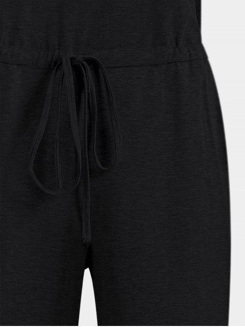 Invisible Pockets Drawstring Combinaison à jambe large - Noir S Mobile