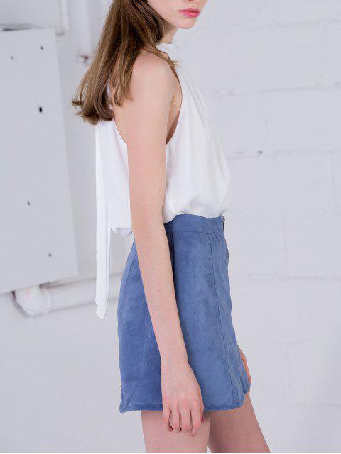 T-shirt à manches longues - Blanc 2XL Mobile