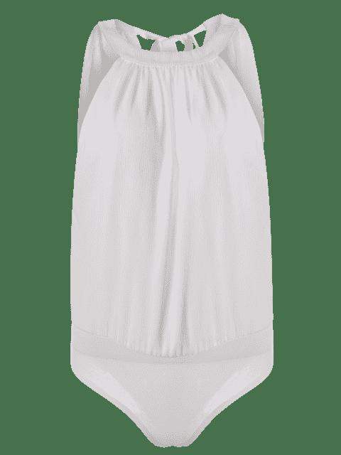 Combinaison ajourée lacée au dos - Blanc XL Mobile