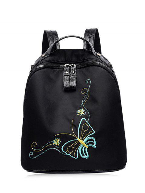 Embroidery Nylon Remaches Mochila - Negro  Mobile