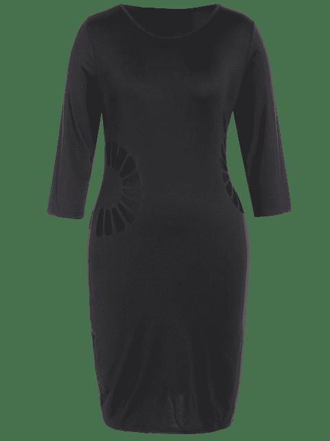 Robe taille taille taille décontractée - Noir 2XL Mobile
