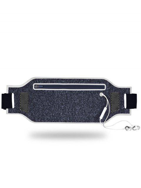 womens Light Weight Color Block Breathable Waist Bag - SILVER  Mobile