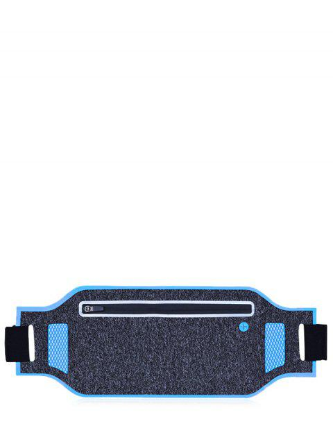 ladies Light Weight Color Block Breathable Waist Bag - BLUE  Mobile