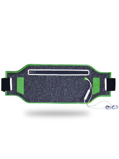women's Light Weight Color Block Breathable Waist Bag - GREEN  Mobile