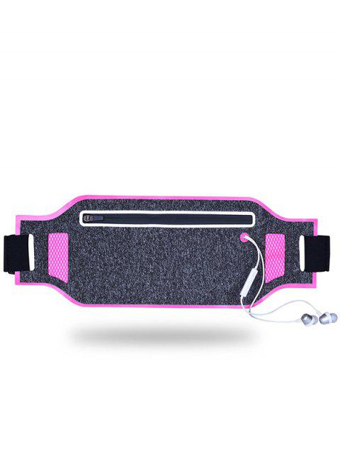 women Light Weight Color Block Breathable Waist Bag - ROSE RED  Mobile
